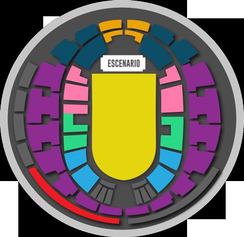 Mapa Concierto Pearl Jam en Santiago - Movistar Arena Precios